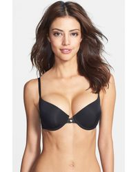 Natori | Black 'pure Luxe' Push-up Bra | Lyst