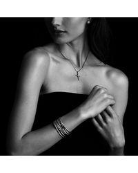 David Yurman | Metallic X Station Bracelet With Diamonds In Gold, 4Mm | Lyst