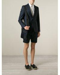 Giorgio Armani - Blue Logo Embossed Messenger Bag for Men - Lyst