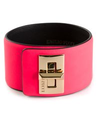 Emilio Pucci | Pink Twist Lock Cuff | Lyst