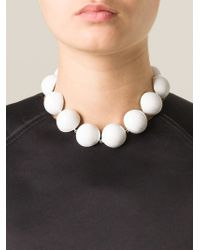 Holly Fulton White Enamel Ball Necklace