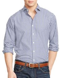 Ralph Lauren | Blue Polo Checked Poplin Estate Shirt for Men | Lyst