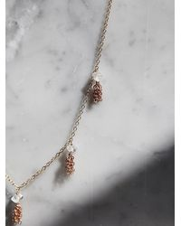 Free People | Metallic Marida Womens Tiny Tassel Necklace | Lyst