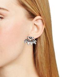 DANNIJO | Metallic Casper Front Back Earrings | Lyst