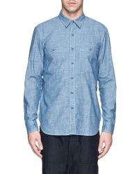 NLST - Blue Cotton Denim Naval Shirt for Men - Lyst