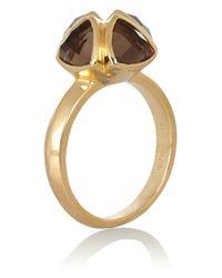 Katie Rowland - Metallic Salome Gold-tone Quartz Ring - Lyst