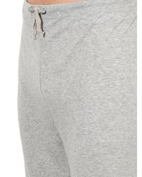The White Briefs Gray Bamboo Cotton-Jersey Track Pants for men
