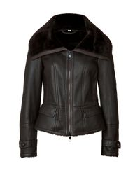 Burberry - Brown Shearling Stonedale Jacket - Lyst