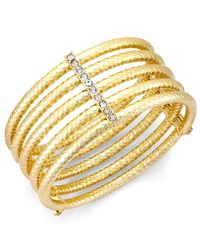 INC International Concepts | Metallic Gold-tone Crystal Multi-row Stretch Bracelet | Lyst