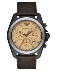 Emporio Armani Brown Chronograph Watch for men