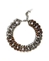Lafayette 148 New York | Brown Oversize Chain Link Necklace - Chestnut | Lyst