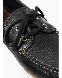 Mango | Black Leather Boat Shoes for Men | Lyst