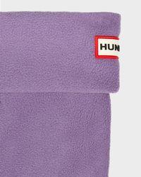 HUNTER Purple Short Boot Socks