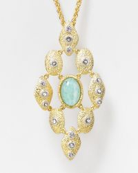 Alexis Bittar Metallic Amazonite Pendant Necklace 30