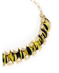 Ela Stone | Yellow Rowina Coloured Thread Stud Bracelet | Lyst
