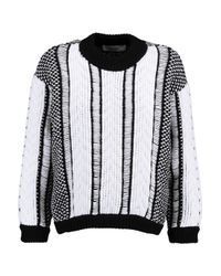 Pringle of Scotland White Jacquard-knit Sweater
