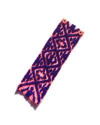 Mignonne Gavigan | Pink Ikat Bracelet Coral / Royal | Lyst