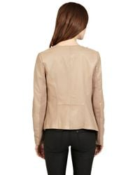 Oasis Natural Leather Waterfall Jacket