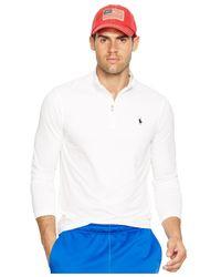 Polo Ralph Lauren | White Jersey Mockneck Pullover for Men | Lyst