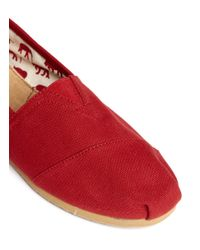 TOMS | Red Canvas Classic Slip-ons | Lyst
