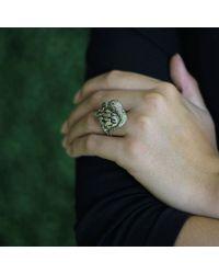 Wendy Yue Metallic Golden Diamond Bird Ring