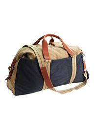 J.Crew Natural Abingdon Weekender Bag In Two-tone for men