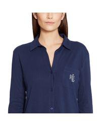 Pink Pony - Blue Cotton Jersey Sleep Shirt - Lyst