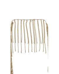 Fallon - Metallic Classique Fringe Necklace Gold - Lyst