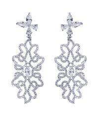 Carat* - Metallic Godiva Heroines Chandelier Earrings - Lyst