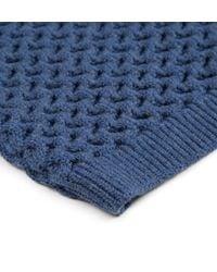 Sunspel - Blue Women's Textured Merino Jumper - Lyst