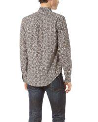 Sidian, Ersatz & Vanes Brown Mushroom Classic Shirt for men