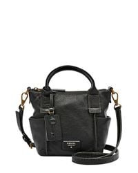 Fossil | Black 'micro Emerson' Satchel | Lyst