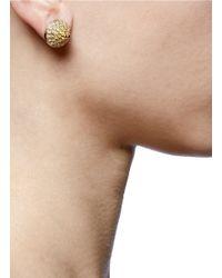 Eddie Borgo | Metallic Pavé Cone Stud Earrings | Lyst