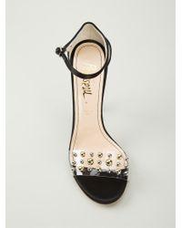 Jerome C. Rousseau Black Studded Sandals