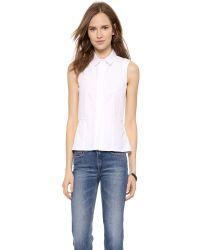 Victoria Beckham Sleeveless Sports Shirt - White