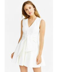 Keepsake | White High Tide Twist-front Dress | Lyst