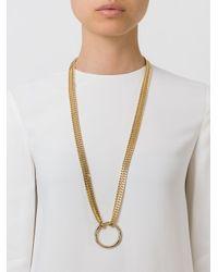 Chloé - Metallic 'carly' Necklace - Lyst