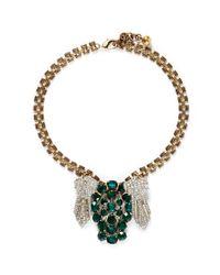 Lulu Frost - Metallic '50 Year Vintage' Crystal Pavé Station Necklace - Lyst