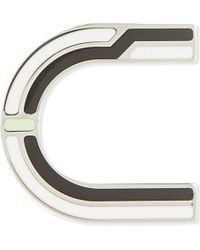Proenza Schouler Multicolor Letter U Enamelled Brass Pin - For Women
