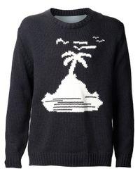Julien David | Blue Island Knitted Sweater for Men | Lyst