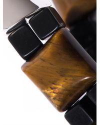 Luis Morais - Brown Tigers Eye Onyx and Whitegold Bracelet for Men - Lyst