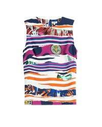 KENZO | Torn Paper Sleeveless Crepe Top - Multicolor | Lyst