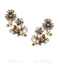 Erickson Beamon | Metallic Night Shade Gold-Plated Swarovski Crystal Clip Earrings | Lyst
