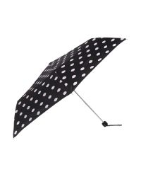 Lulu Guinness - Black Lips Print Lined Superslim Umbrella - Lyst