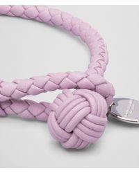 Bottega Veneta - Pink Parme Intrecciato Nappa Bracelet for Men - Lyst