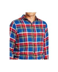 Polo Ralph Lauren | Blue Big And Tall Plaid Twill Workshirt for Men | Lyst