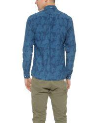 Apolis Blue Indigo Camp Shirt for men