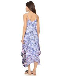 Charlie Jade Mixed Waves Silk Dress - Blue