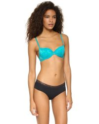Calvin Klein | Blue Ck Black Push Up Bra | Lyst