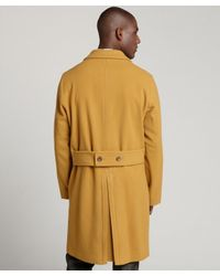Gucci - Orange Mustard Wool-cashmere Double-breasted Peacoat for Men - Lyst